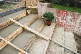 treppen einschalen betonieren der terrassentreppe zweiter teil mission wohn t raum