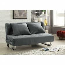 Sofa Bed Collection Coaster Flaxen Collection Grey Velvet Fabric Upholstered Folding