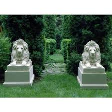 lion garden statue the well appointed house luxuries for the home the well