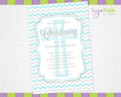christening invitation christening chevron invitations