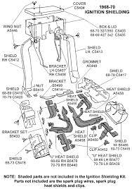 corvette supply 1968 70 ignition shielding diagram view chicago corvette supply