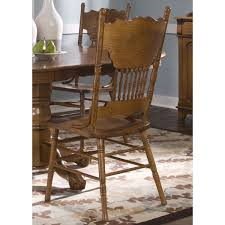 Traditional Wooden Kitchen Chairs by Nostalgia Traditional Oak Double Press Back Dining Chair Free