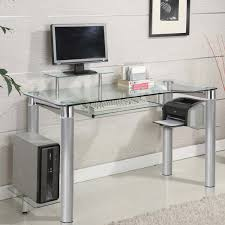 Computer Desk Drawers with More Comfortable With Glass Computer Desk U2014 The Decoras Jchansdesigns