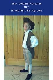 straddling the gap diy easy colonial costume