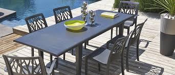 mobilier de jardin italien table de jardin alpha 150 u0026 240 grosfillex