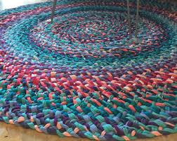 American Made Braided Rugs Rainbow Rug Etsy