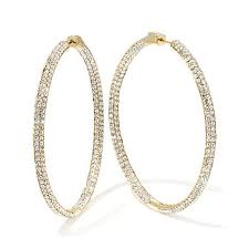 hoop earrings joan boyce happening hoops pavé inside outside hoop