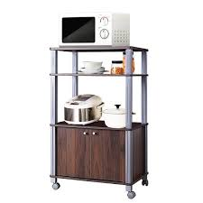 kitchen pantry storage cabinet microwave oven stand with storage 4 tier microwave stand oven cart bakers rack kitchen storage