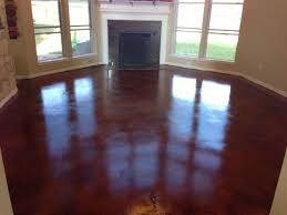 homeowners remodel stained concrete floors houston