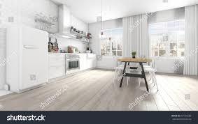 huge modern kitchens modern white kitchen interior appliances huge stock illustration