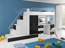 Aufklappbare Schreibtische Hochbett Tomi Mit Schreibtisch Schrank Und Regal Möbel Für Dich