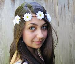 white flower headband flower headband on the hunt