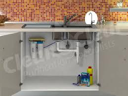 Undersink Water Filter Clean  Clear - Kitchen sink water filter