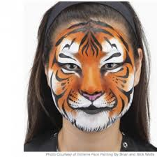 tiger mask halloween easy tiger face painting design tiger face face paintings and