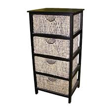 honey 5 wicker baskets chest drawers storage tall tower clothes