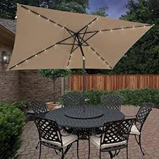Rectangle Patio Umbrella Bcp 10 X6 2 Deluxe Solar Led Lighted Rectangle Patio
