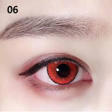 red contacts for halloween