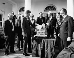 ar8247 e president f kennedy receives thanksgiving turkey at
