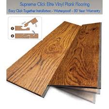 Vinyl Click Plank Flooring Supreme Click Elite Waterproof Lvt Scraped Vinyl Plank Aspen Pine