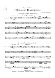 3 hymns of thanksgiving 2 sheet for piano and