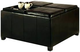 leather tray top ottoman exotic storage ottoman with tray top coffee table storage ottoman