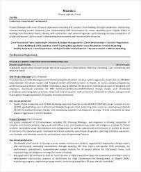 Best Team Lead Resume Example by Construction Project Manager Resume Sample Project Manager Cv