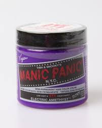 Wash Away Hair Color Amazon Com Manic Panic Electric Amethyst Hair Color Cream Toys