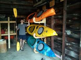 Wooden Kayak Storage Rack Plans by We Recently Bought A Couple Of Kayaks So I Had To Come Up With A