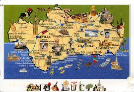 Andalucia Spain Map by Spain Remembering Letters And Postcards