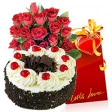 online 8 birthday wish eggless cake n flower combo delivery at low