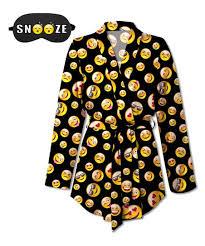 emoji robe sunshine dream black smiley face emoji robe aromatherapy eye mask