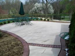 Patio Concrete Designs by Concrete And Brick Patio Home Design Ideas And Pictures