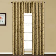 Curtain Panels Sinclair Embroidered Grommet Top Curtain Panels And Valance