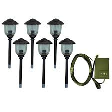 low voltage landscape lighting kits solar powered post cap lights