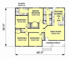 craftsman style house plan 4 beds 2 00 baths 1541 sq ft plan 44 180