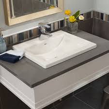 wide basin bathroom sink appealing studio drop in bathroom sink american standard countertop