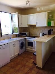 cuisine avec lave linge appartement duplex paradise orient baie martin bord de mer