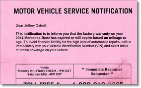 Financial Warranty Letter carbuyingtips warns consumers how to avoid used car extended