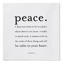 best quotes sayings peace meaning true real
