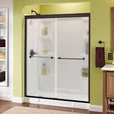 delta mandara 60 in x 70 in semi frameless sliding shower door