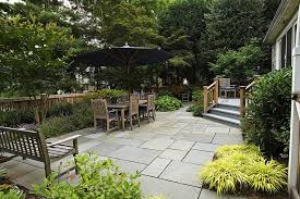Deck Garden Ideas Paver Patio Ideas Patio Rustic With Border Plantings Deck