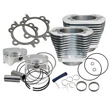 s u0026s cycle 4 u2033 bolt in sidewinder big bore cylinder and piston kit