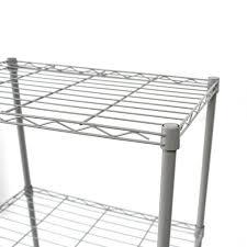 Wire Rack Shelf Black Grey 3 Tier Steel Shelf Kitchen Storage Wire Metal Rack