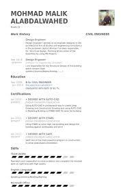 civil design engineer resume sample