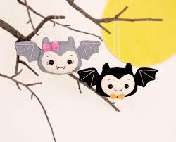 halloween decorations bat toys felt set of 2 bats spooky home
