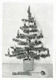 vintage 1939 tabletop tree artificially lit