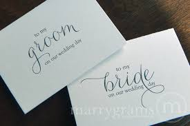 card to groom from on wedding day wedding card to your or groom on your our wedding day