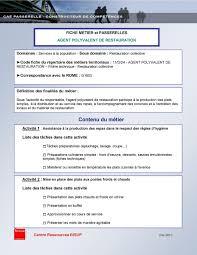 code rome commis de cuisine fiche metier et passerelles polyvalent de restauration pdf