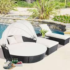 Outdoor Lounge Chair With Canopy Canopy Lounge Chair Teak Wood Garden Pool Techethe Com