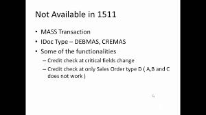 s4 hana simplifications credit management youtube
